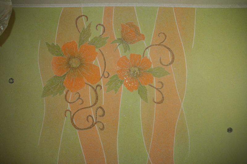 Рисунки жидкими обоями декорируем стены 146